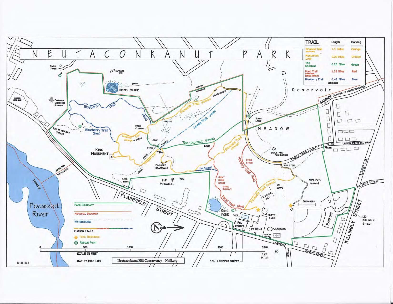 Prudence Island Trail Map